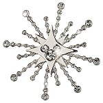 Disney Brooch Pin - Snowflake Mickey Mouse Icon