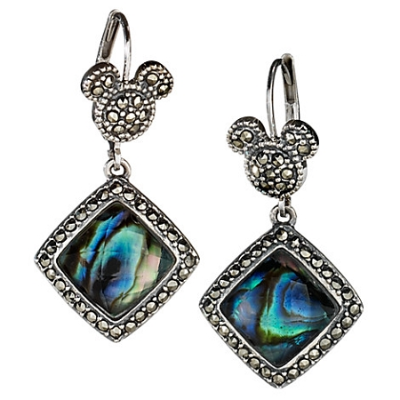 Disney Earrings - Mickey Mouse Icon Stone Dangle - Judith Jack