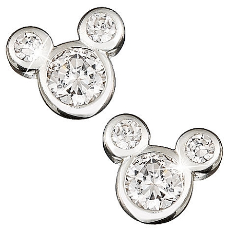 Disney Earrings - Cubic Zirconia Mickey Mouse Icon