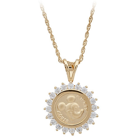 Disney Necklace - Mickey Mouse Gold Coin