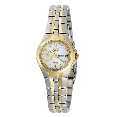 Disney Wrist Watch - Citizen Mickey Mouse for Women - Silver & Gold