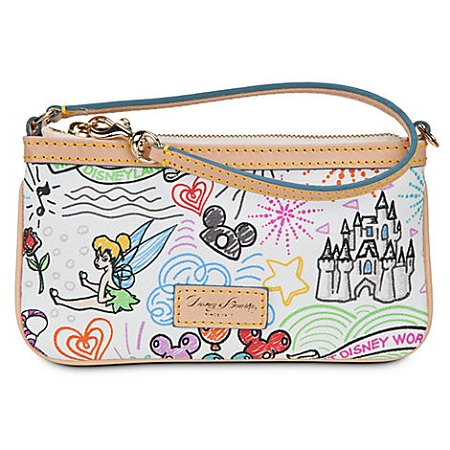 Disney Dooney & Bourke Bag - Sketch - Leather Wristlet