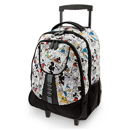 Disney Rolling Backpack Bag - Mickey Mouse Comic Strip
