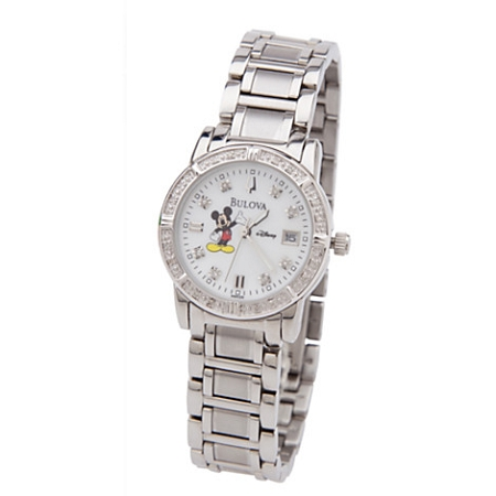 Disney Wrist Watch for Women - Mickey Mouse - Diamond Bulova