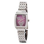 Disney Wrist Watch for Women - Mickey Mouse Icons - Silver & Pink