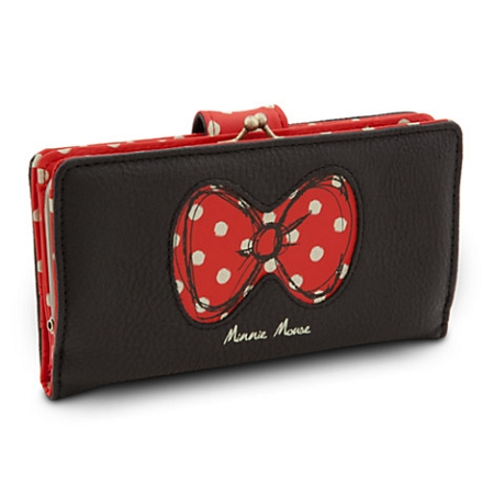 Disney Wallet - Minnie Mouse - Bow with Polka Dots - Black