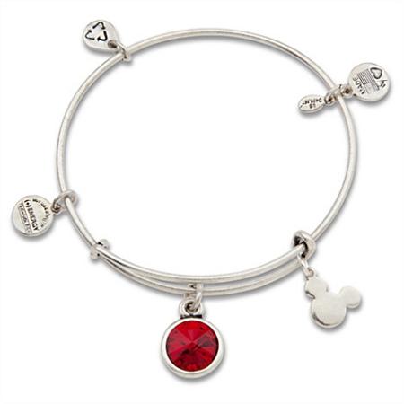 dd1b83929a9f2 Disney Alex and Ani Charm Bracelet - Mickey Mouse Birthstone - Silver
