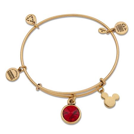 Disney Alex And Ani Charm Bracelet Mickey Mouse Birthstone Gold