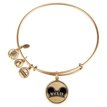 Disney Alex and Ani Charm Bracelet - Mickey Mouse Ear Hat - Gold
