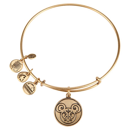 Disney Alex and Ani Charm Bracelet - Mickey Mouse Filigree - Gold