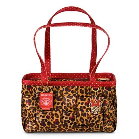 Disney Harveys Bag Minnie Mouse Leopard Large Satchel