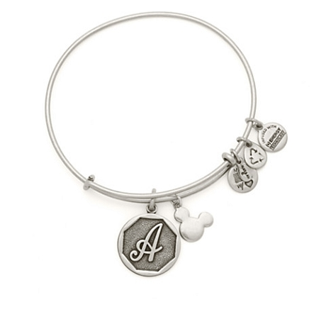 Disney Alex and Ani Charm Bracelet - Mickey Mouse Initial - Silver
