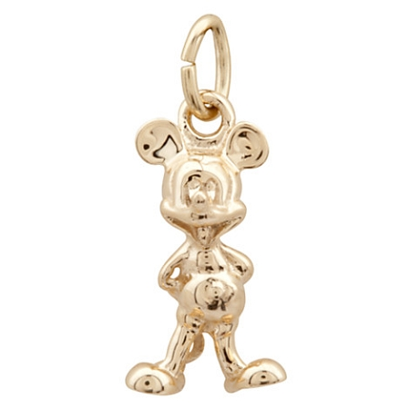 Disney Dangle Charm - Mickey Mouse Gold Charm - 14K