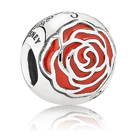 Disney Pandora Charm - Belle Enchanted Rose