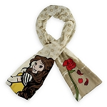 Disney Scarf - Belle with Rose - Tan