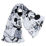 Disney Scarf - Mickey Mouse Classic - Black and White