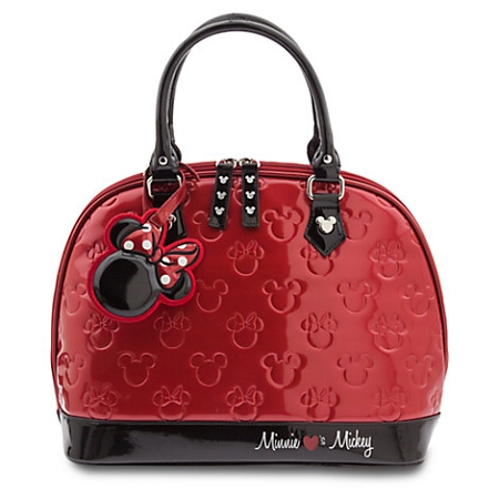 Disney Loungefly Hand Bag - Mickey and Minnie Mouse Embossed - Red