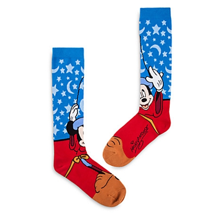 94fc9470c89 Disney Socks for Adults - Sorcerer Mickey Mouse Knee-High Socks