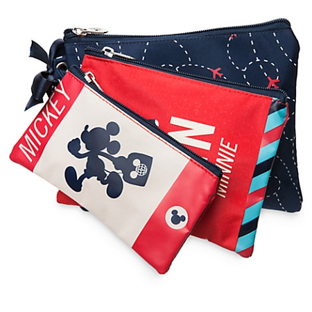 Disney Cosmetic Bag Set - TAG - Mickey and Minnie -  3 Piece