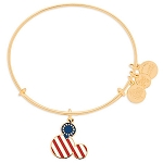 Disney Alex and Ani Bracelet - Mickey Mouse Icon Flag - Gold