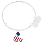 Disney Alex and Ani Bracelet - Mickey Mouse Icon Flag - Silver