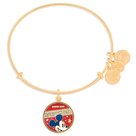 Disney Alex and Ani Bracelet - Mickey Mouse Banner - Gold