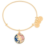 Disney Alex and Ani Bracelet - Mickey Mouse Flag - Gold