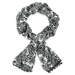 Disney Scarf - Filigree Mickey Mouse Icon - Black and White