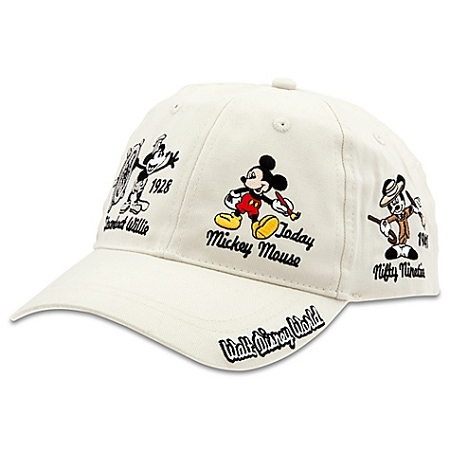 Disney Hat - Baseball Cap - Through the Years Mickey Mouse