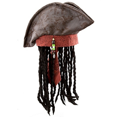 Disney Hat - Pirates of the Caribbean Pirate Hat and Wig