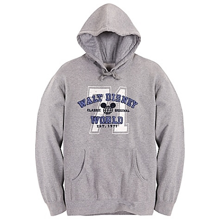 Disney Sweatshirt for ADULTS - Hooded Collegiate Walt Disney World