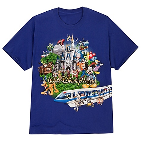 Disney Shirt for ADULTS - Storybook Walt Disney World -- Blue