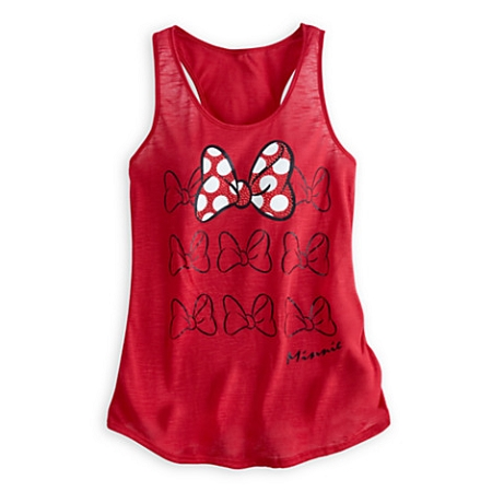 Disney Shirt for Women - Minnie Mouse Bow Tank Top - Red