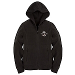 Disney Hoodie for WOMEN - Mickey Mouse Zip Fleece - Black