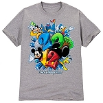 Disney Shirt for ADULTS - 2012 Flocked Walt Disney World Tee  -- Gray