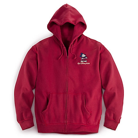 Disney Hoodie for Men - Mickey Mouse Walt Disney World Logo Zip Up
