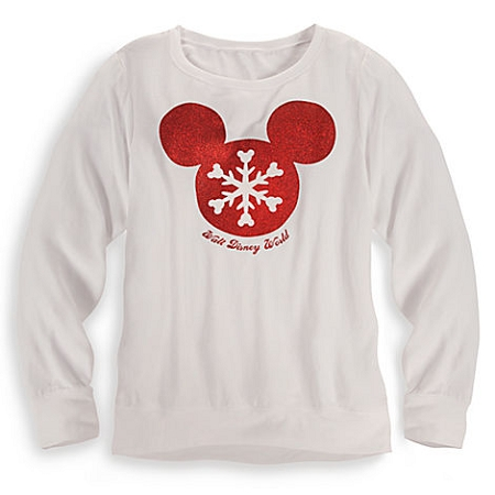 Disney Shirt for Women - Christmas - Mickey Mouse Snow Flake Icon