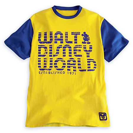 Disney Shirt for Men - Mickey Mouse Disney World 71 - Yellow