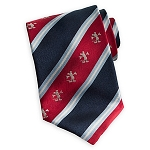 Disney Silk Tie - Mickey Mouse - Striped Red White Blue