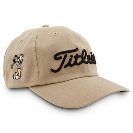 Disney Hat - Baseball Cap - Mickey Mouse Golf - Titleist - Tan 91b606adb13