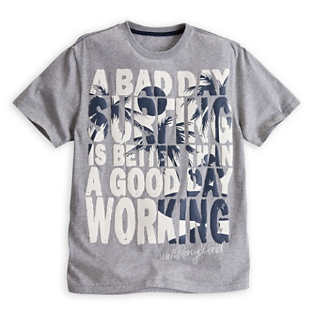 Disney Shirt for Men - Mickey Mouse Text Tee - Gray