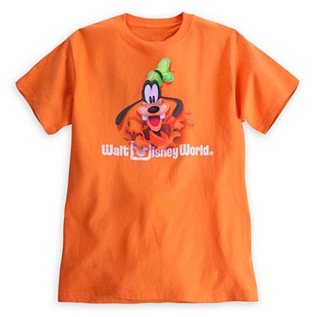 Disney Shirt for Adults - Goofy Peek A Boo Tee - Orange