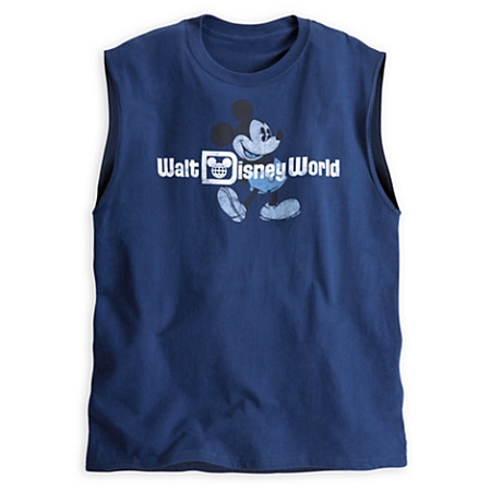 Disney Shirt for Men - Mickey Mouse Sleeveless Tee - Blue