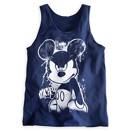 Disney Shirt for Adults - Mickey Mouse Attitude Tank Tee - Blue