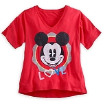 Disney Shirt for Women - Mickey Mouse Love Tee - Red