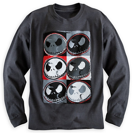 Disney Shirt for Adults - Jack Skellington Pop Art Long Sleeve Tee
