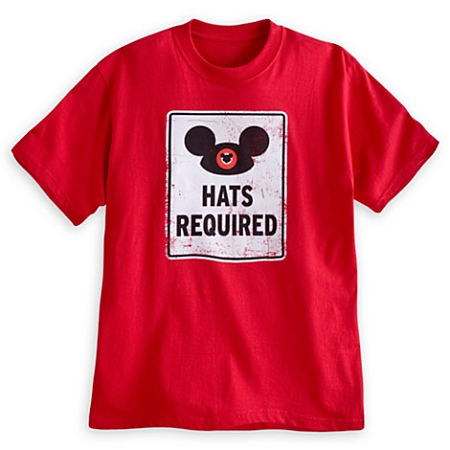 Disney Shirt for Adults - Mickey Mouse Ear Hat - Hats Required - Red