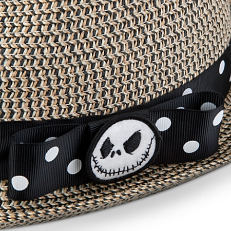 5b7af86e4 Disney Hat - Straw Hat - Jack Skellington Fedora