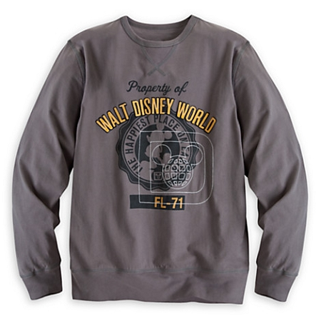 Disney Shirt for Adults - Mickey Walt Disney World Long Sleeve - Gray