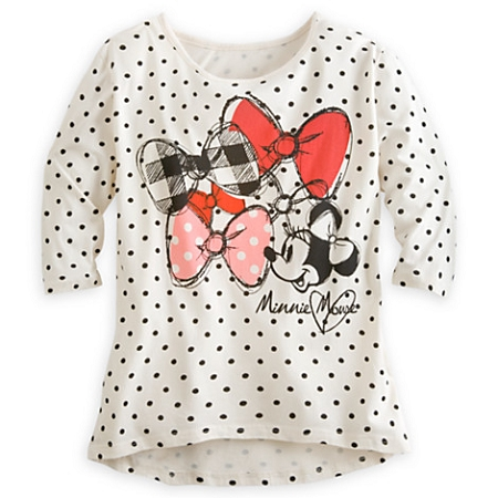 Disney Shirt for Women - Minnie Mouse Dotted Tee - White
